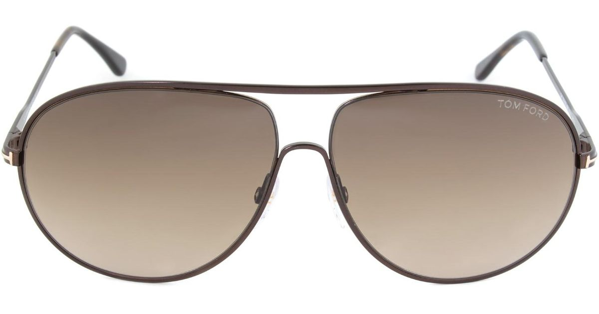 b568621c1abd9 Lyst - Tom Ford Cliff Aviator Unisex Sunglasses Ft0450 in Brown