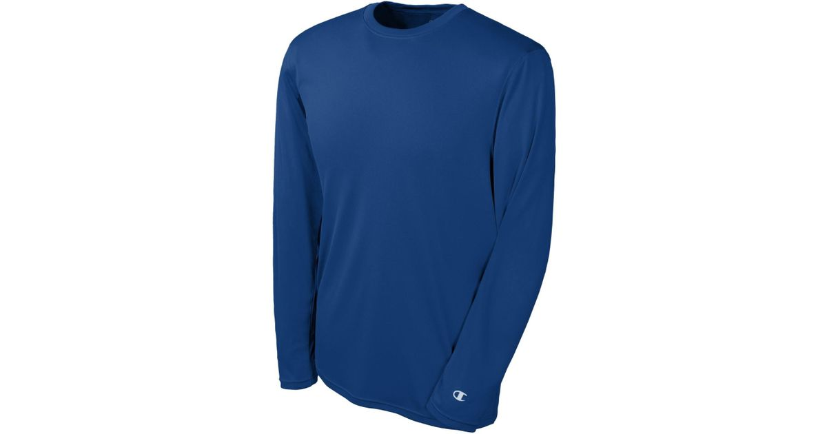da1d3295a6cf Lyst - Champion Double Dry Long Sleeve Tee Size-xs Royal Blue in Blue for  Men - Save 15%