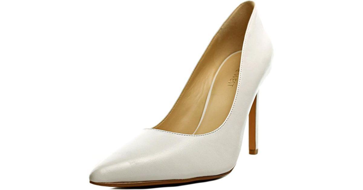 5f543abce4b Lyst - Nine West Tatiana Women Us 9 White Heels in White