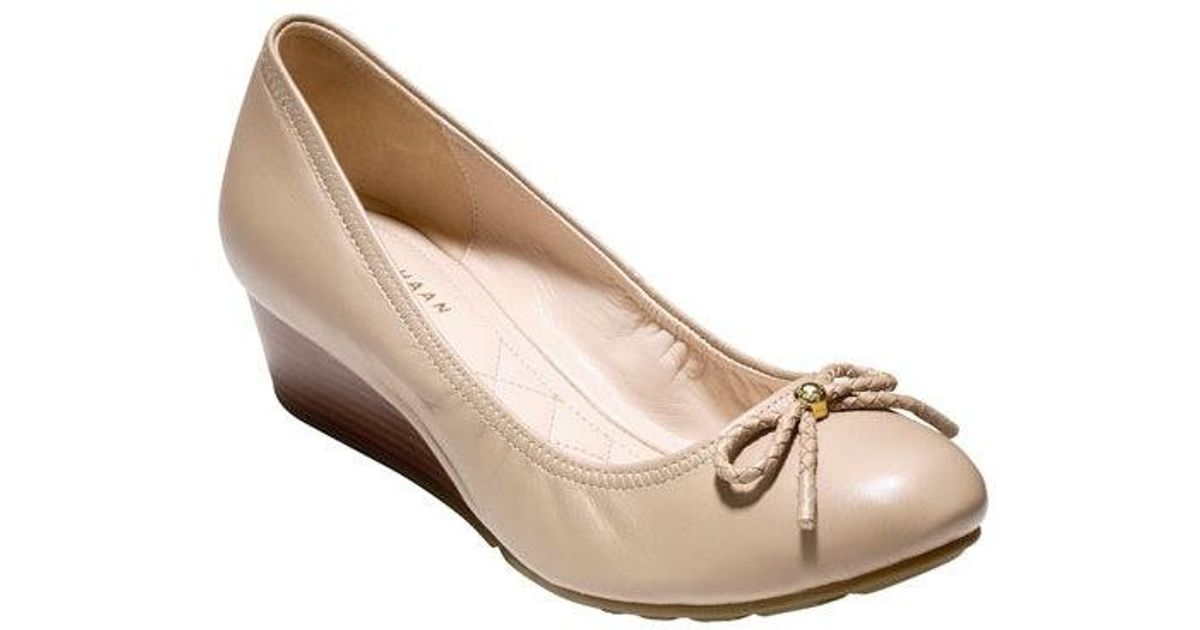 1ade402d41 Lyst - Cole Haan Tali Grand Lace Wedge 40