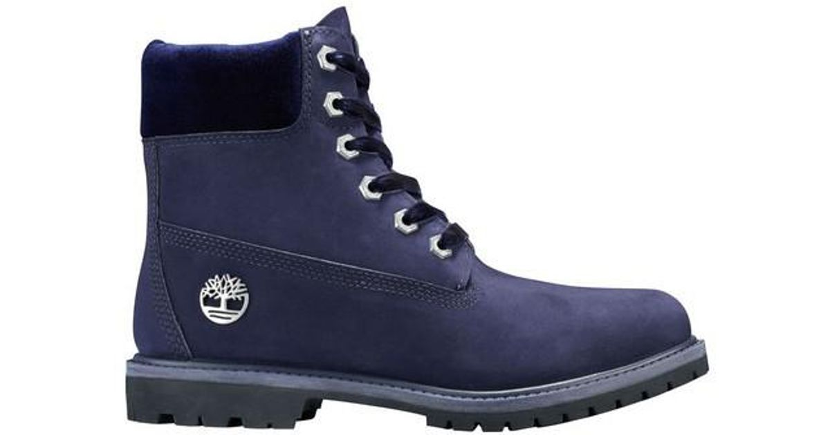 Lyst - Timberland 6  Premium Leather fabric Waterproof Boot in Blue 090761da6ef0