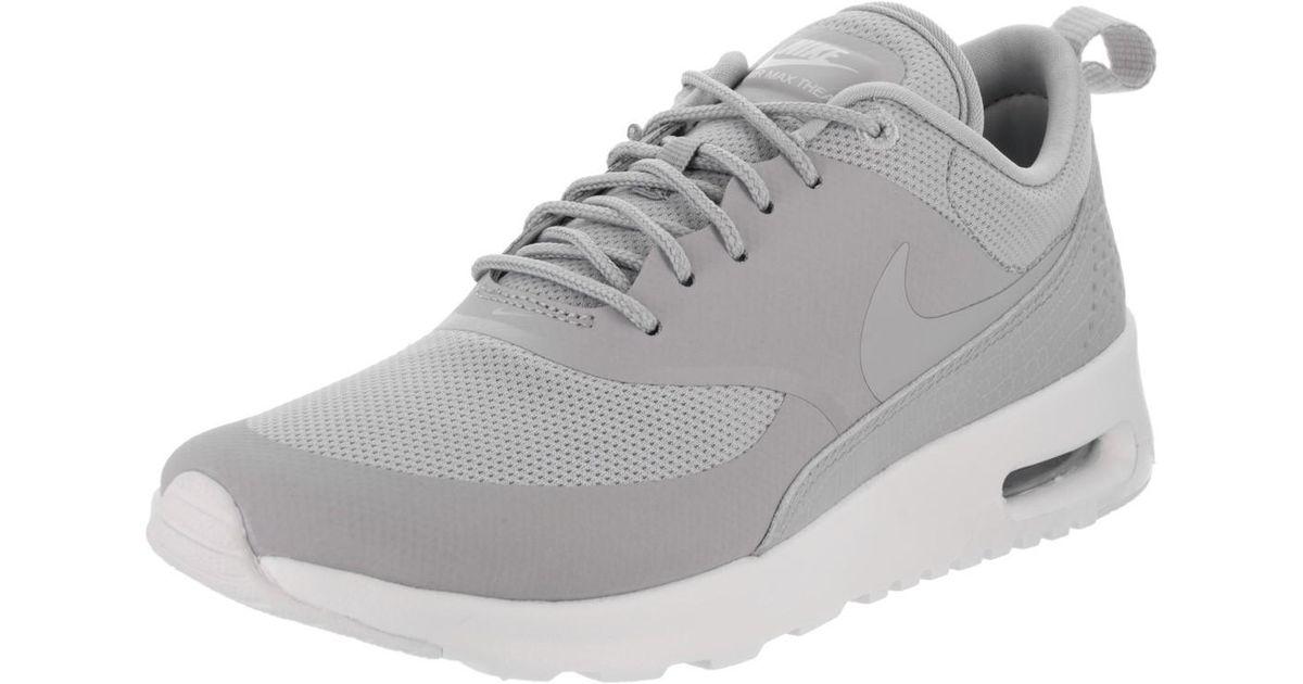 Nike Gray Air Max Thea Wolf Greywolf Greywhite Running Shoe 8 Women Us Lyst