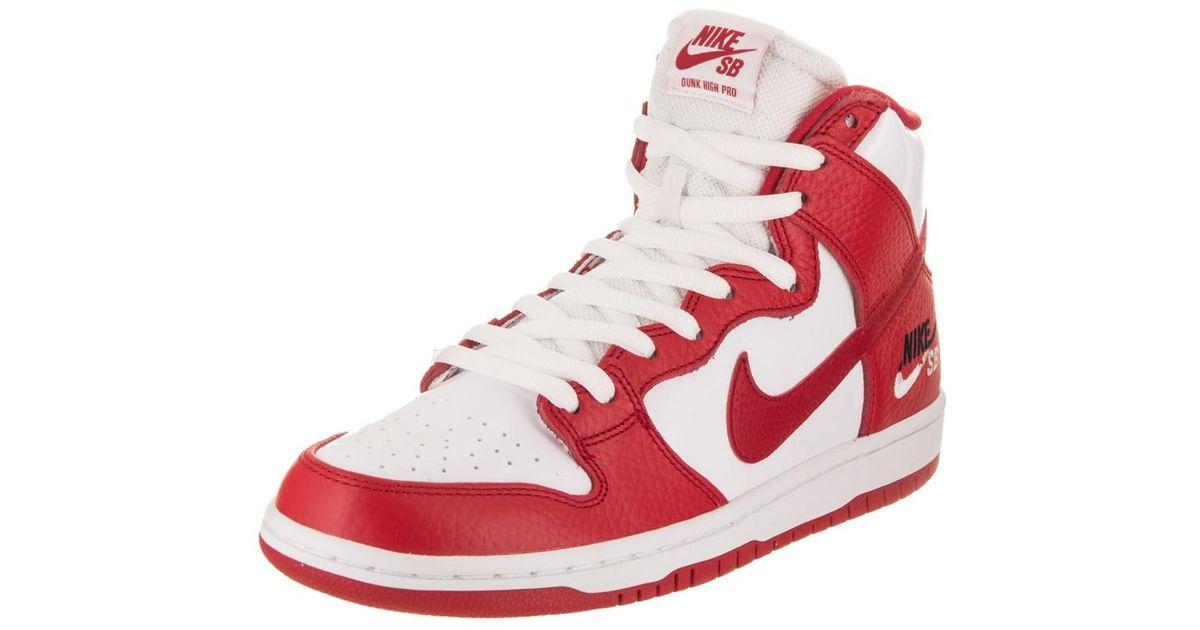 best service 051c4 d0f9d nike sb dunk high pro men s skate shoe Lyst - Nike Sb Zoom Dunk High Pro  University red universoty red .