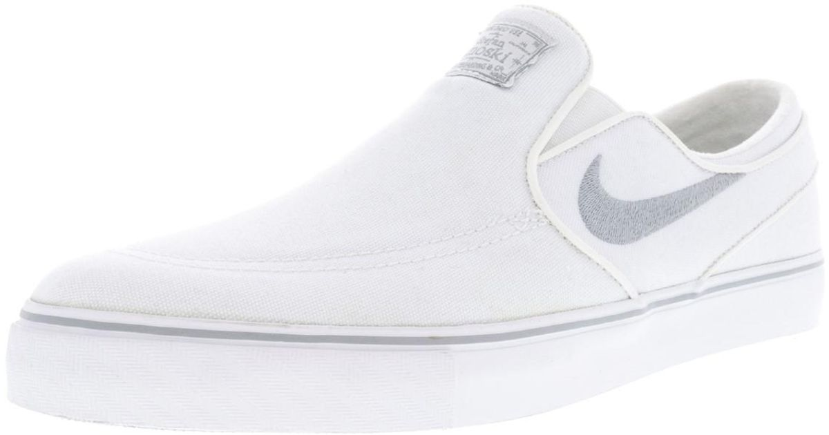 4669c7dcd791 Lyst - Nike Zoom Stefan Janoski Slip Cnvs White wolf Grey white Skate Shoe  8 Us in White for Men
