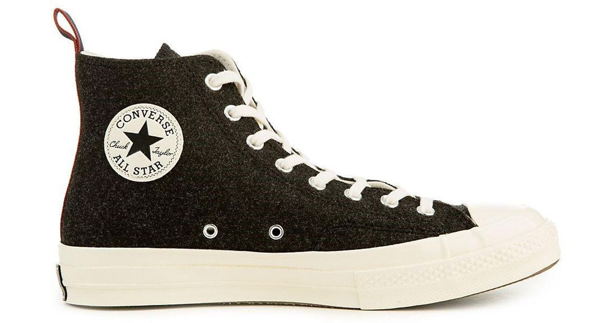 4302d7aa9030 Lyst - Converse 157481c  Chuck Taylor All Star  70 Heritage Felt Hi Sneaker  in Black for Men