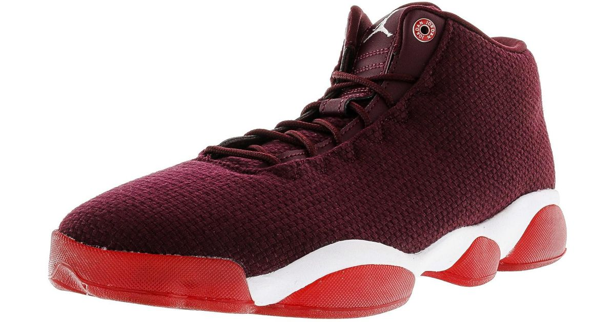ffe8879d247bb9 Lyst - Nike Jordan Horizon Low Night Maroon   White Gym Red Ankle-high  Fabric Basketball Shoe - 11m in Red for Men