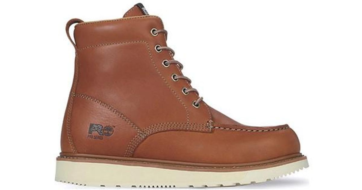 f3ae9740095 Lyst - Timberland Pro 6  Wedge Sole Soft Toe in Brown for Men