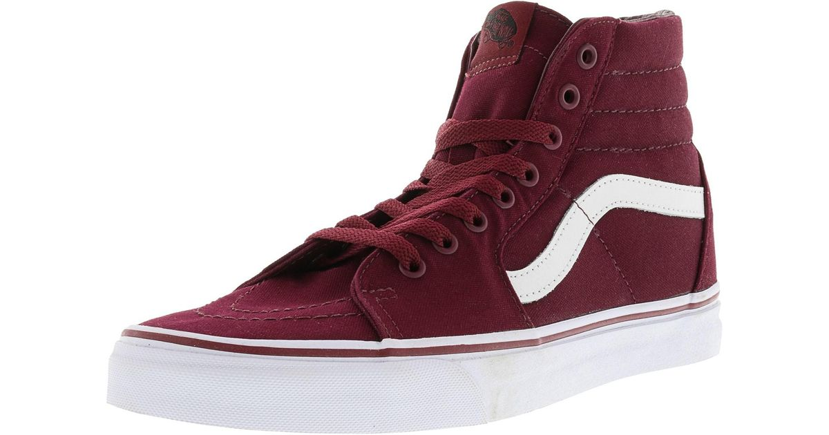 c445f33abea8 Lyst - Vans Sk8-hi Canvas Cordovan   True White High-top Skateboarding Shoe  for Men