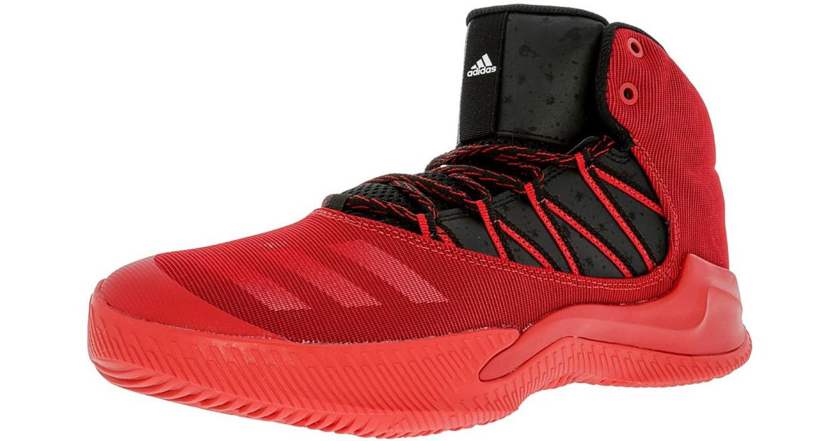 d2db042f928b ... ireland lyst adidas infiltrate scarlet black white high top basketball  shoe 9m in red for men