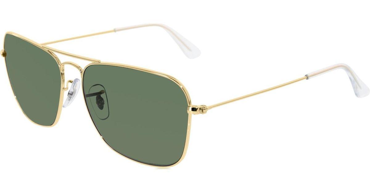 97d9283112a Lyst - Ray-Ban Caravan Arista Frame Green Lens Sunglasses Rb3136 001 58-15  in Green for Men