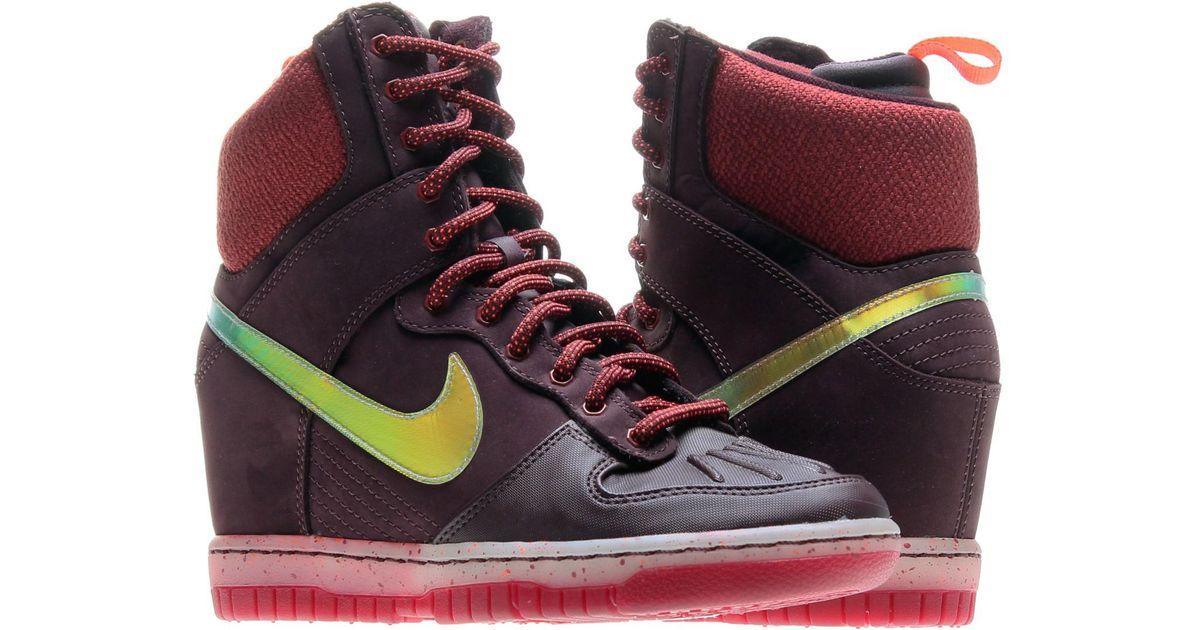 a60f8765 ... usa lyst nike dunk sky hi sneakerboot 2.0 shoes size 7 in purple 3084e  c5f0f