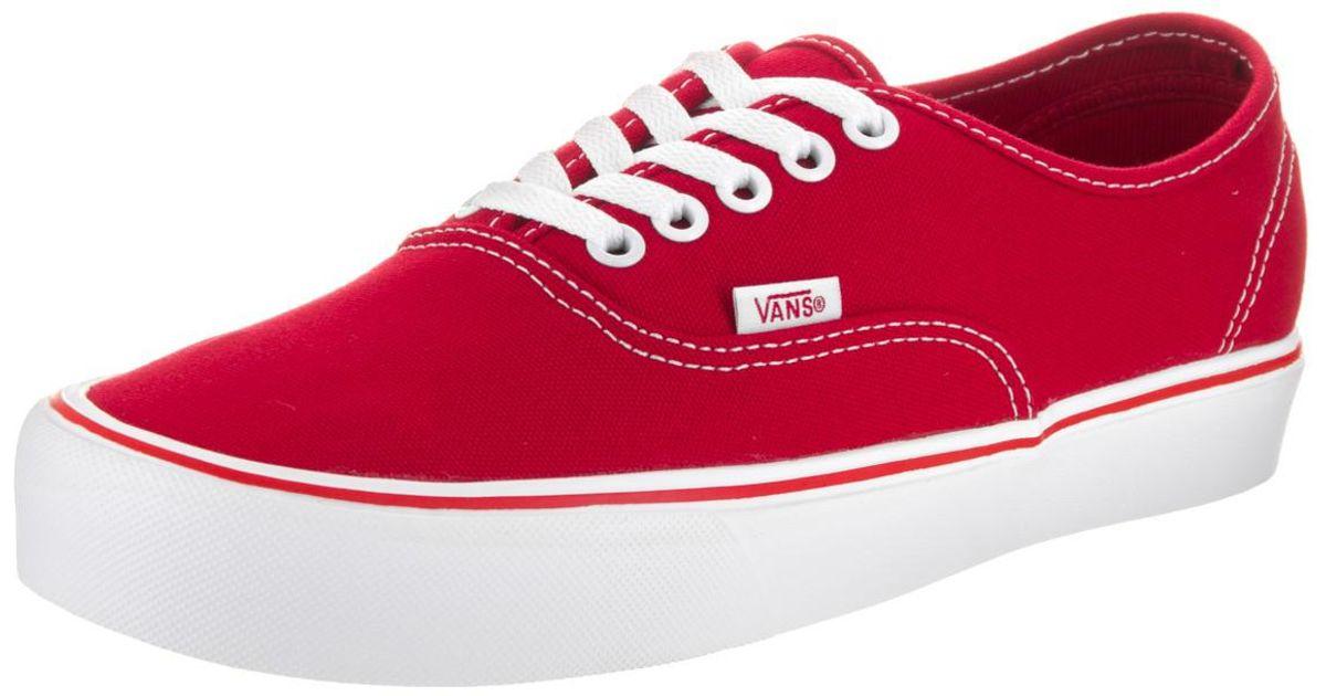 7c607e8bce Lyst - Vans Unisex Authentic Lite (canvas) Red Skate Shoe 11.5 Men Us in Red  for Men