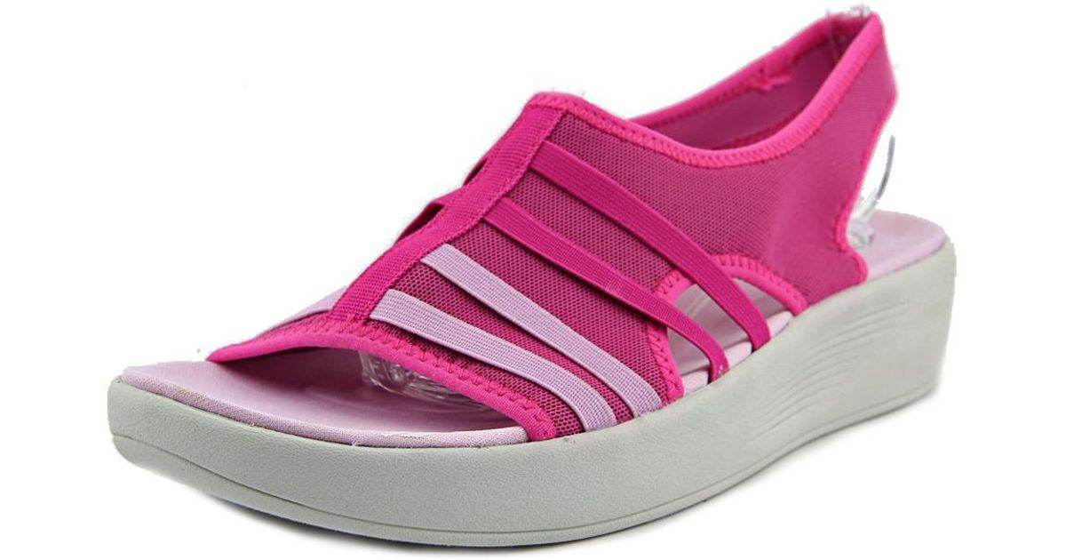 9af4d5a95ba2 Lyst - Easy Spirit E360 Boatyard Women Us 6.5 Pink Wedge Sandal in Pink