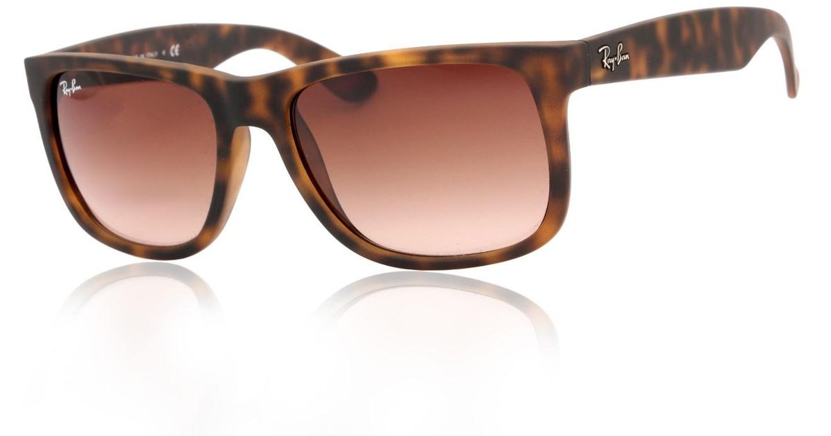 Lyst - Ray-Ban 0rb4165 710 13 51 Rubber Light Havana brown Gradient Justin  Youngster Sunglasses in Brown e10f4223ed97