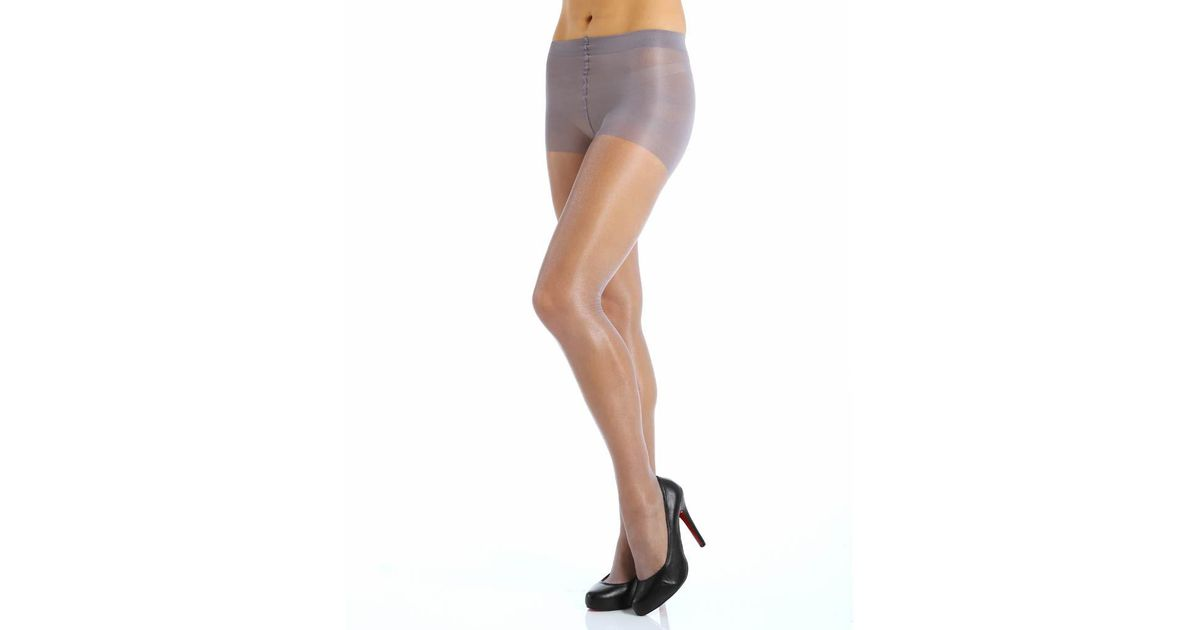 747d3ebac343d Calvin Klein K25f Shimmer Sheer Pantyhose With Control Top (pearl Grey C)  in Gray - Lyst