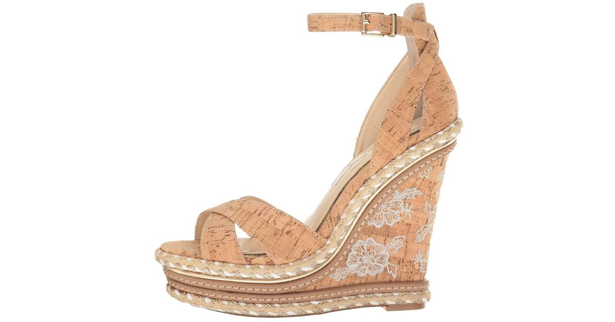 c93e8065be Lyst - Jessica Simpson Ahnika Wedge Sandal in Natural - Save  40.50632911392405%