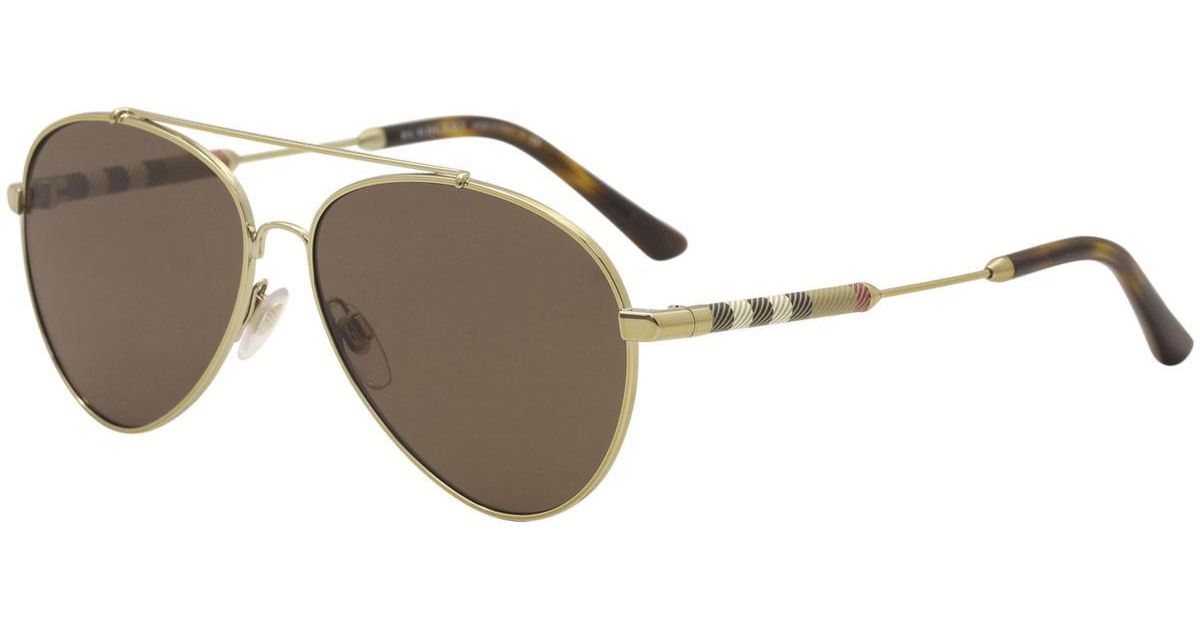 98a1667e38 Lyst - Burberry Be3092q Be 3092 q 114573 Light Pilot Sunglasses 57mm in  Metallic for Men