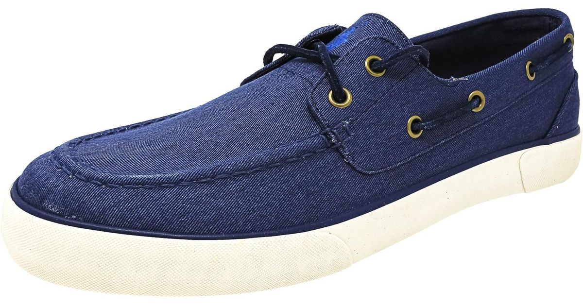 Lyst - Polo Ralph Lauren Rylander-sk-vlc Twill Ankle-high Flat Shoe - 9.5m  in Blue for Men - Save 45%
