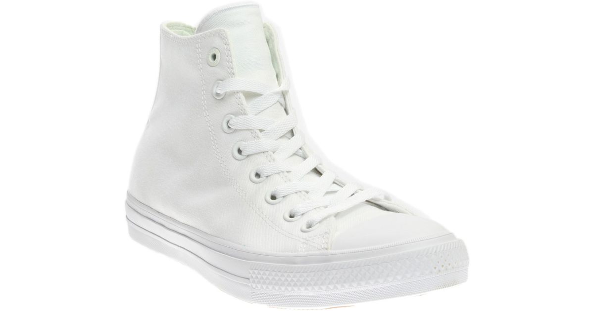 3235db374b3 Lyst - Converse Unisex Chuck Taylor All Star Ii Hi Basketball Shoe 10 Us    12 Us in White