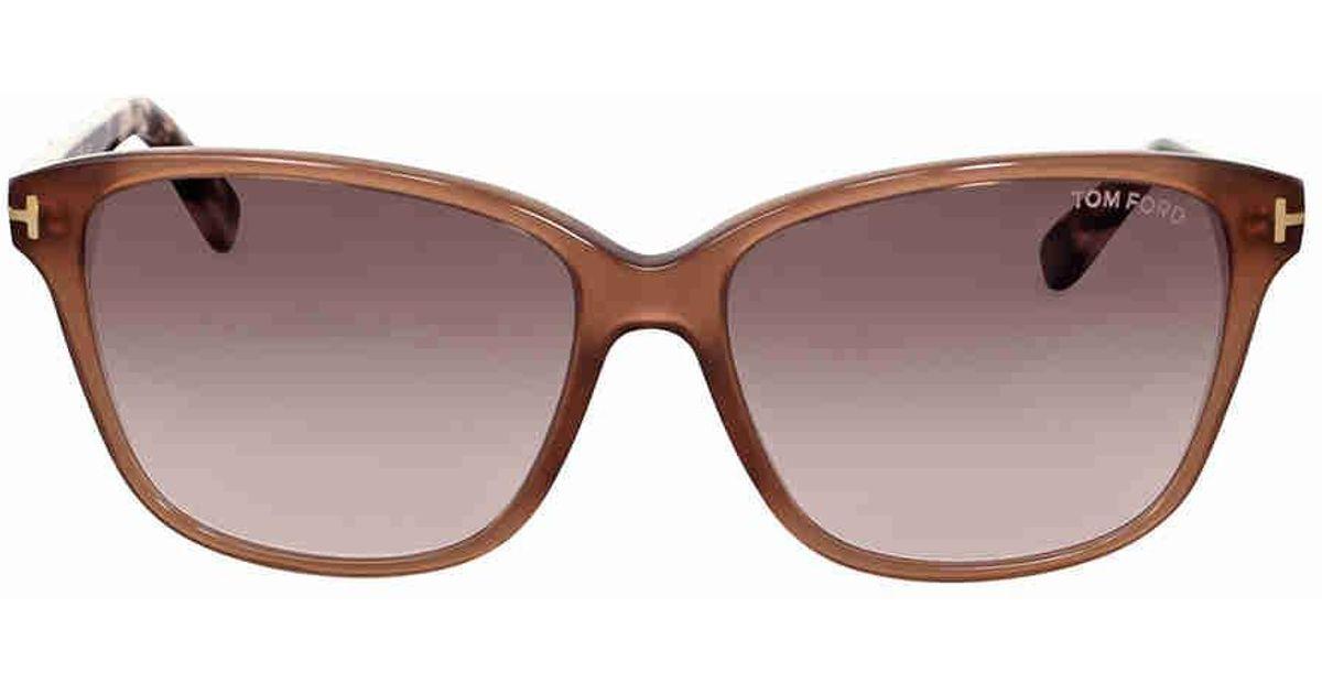 515b601ec3fc9 Lyst - Tom Ford Dana Brown Gradient Sunglasses in Brown