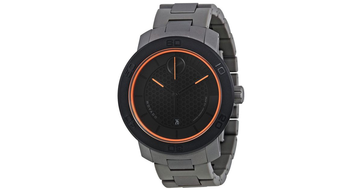 6ae55d8a99d Lyst - Movado Bold Black Ion Titanium Mens Watch 3600098 in Black for Men