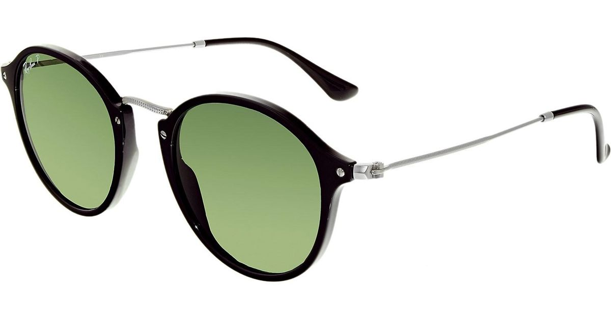 b689837bcf Lyst - Ray-Ban Polarized Round Fleck Rb2447-901 58-49 Green Round  Sunglasses in Green