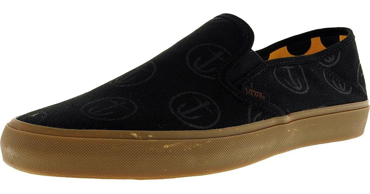 872a20cb5f Lyst - Vans Slip-on Sf Captain Fin Black   Gum Ankle-high Canvas Fashion  Sneaker in Black
