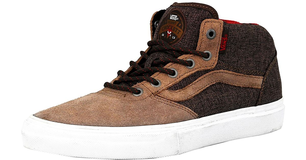 ca14dd0b6f Lyst - Vans Gilbert Crockett Pro Mid Twill Ankle-high Fabric Fashion Sneaker  - 7m in Brown for Men