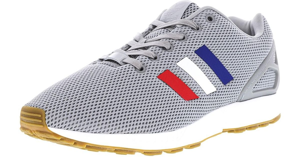 0b2df827c Lyst - adidas Zx Flux Mid Grey   Footwear White Core Red Ankle-high Running  Shoe - 11m in Gray for Men