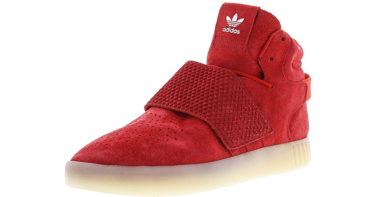 43570454b6d0 ... hot lyst adidas tubular invader strap red vintage white high top  leather basketball shoe 10.5m