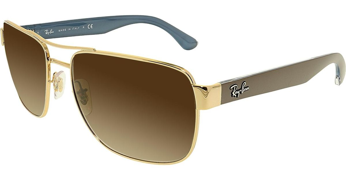 21264ebc437 Lyst - Ray-Ban Gradient Rb3530 Rb3530-00old Aviator Sunglasses in Brown for  Men
