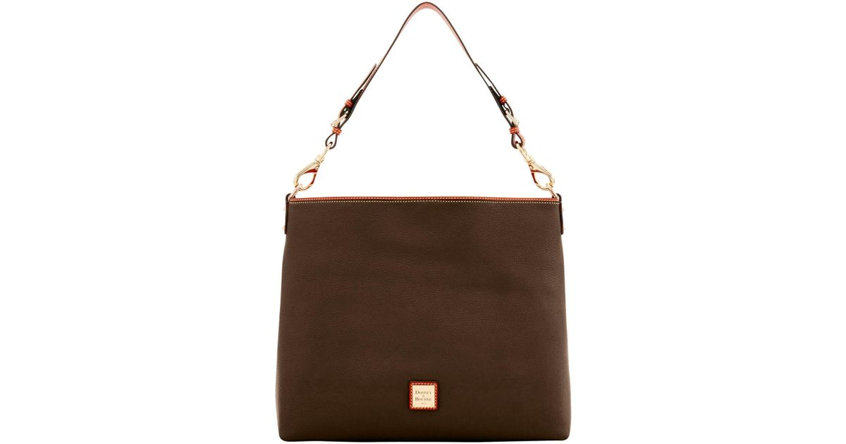 4bd23648a5 Lyst - Dooney & Bourke Pebble Grain Extra Large Courtney Sac Shoulder Bag  in Brown