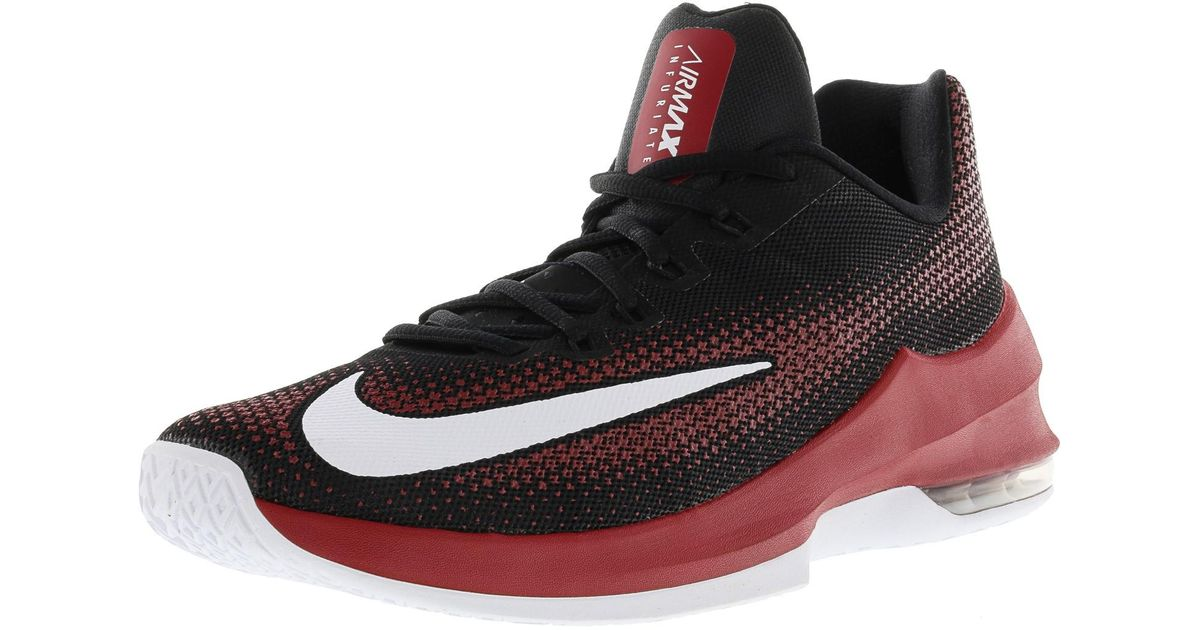 be6257d7ac3e Lyst - Nike Air Max Infuriate Low Ankle-high Basketball Shoe - 10.5m in Red  for Men