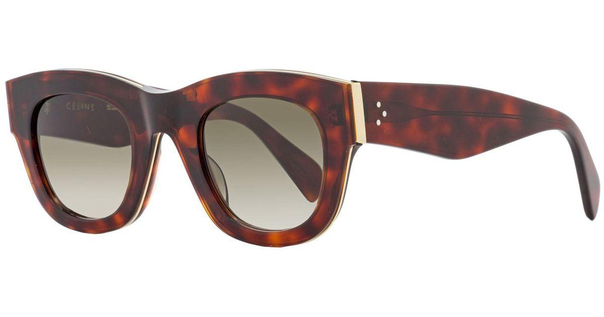 cf7bac4c215 Lyst - Céline Sunglasses 41095  s 0agm Havana Red   Z3 Degrade Lens in Brown