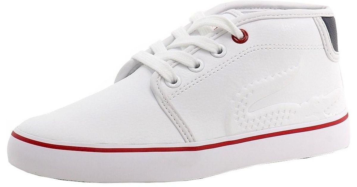 3f656aae66 Lacoste - Boy's Ampthill 116 Fashion White Leather High-top Sneakers Shoes  Sz: 12 - Lyst
