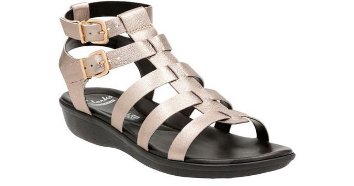 b6ddd6dc853 Lyst - Clarks Women s Manilla Parham Gladiator Sandal in Metallic ...