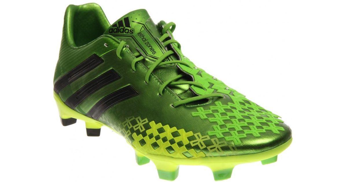 Lyst adidas predator lz trx fg in verde per gli uomini.