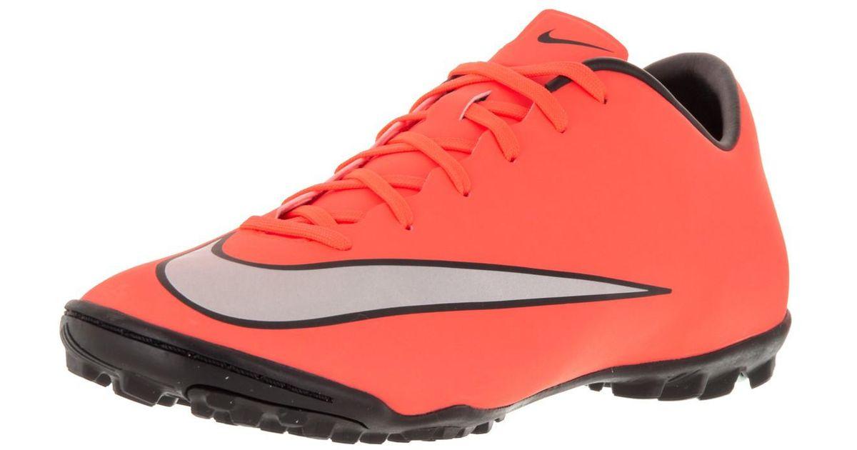 online retailer e258d 5fbcd Nike - Red Mercurial Victory V Tf Brght Mng/mtllc Slvr/hypr Trq Turf Soccer  Shoe 10 Men Us for Men - Lyst