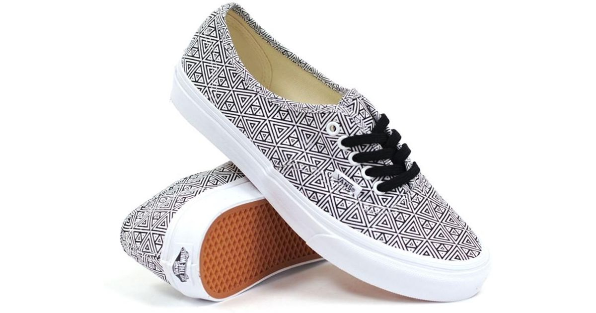 df609884d0 Lyst - Vans Unisex Authentic Slim Geometric Sneakers Blacktruewhite M3.5 W5