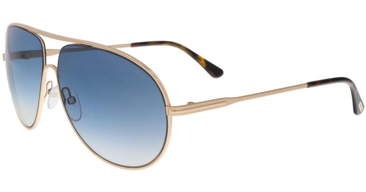 1d1014e7964ec Lyst - Tom Ford Ft0450 Cliff Aviator Sunglasses in Metallic