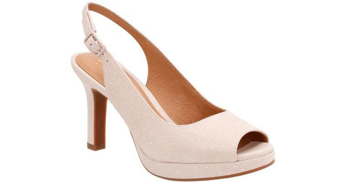 4039d3627c7 Lyst - Clarks Mayra Blossom Peep Toe Slingback in Natural