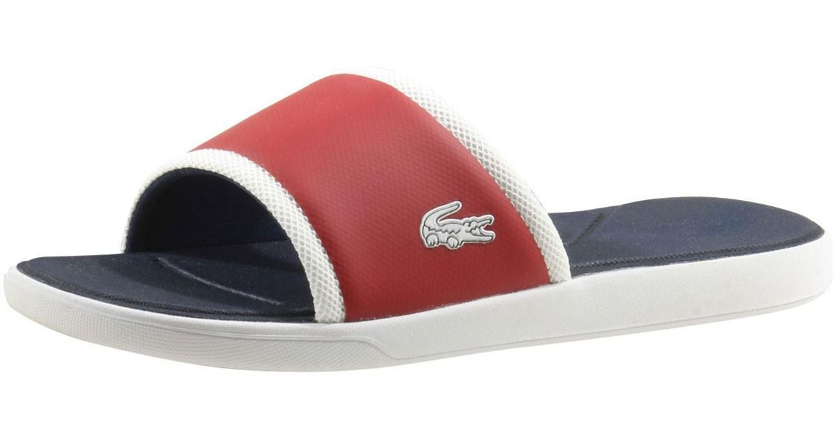 a22ae724b736fe Lyst - Lacoste L.30-slide-317 Red Slip-on Sandals Shoes Sz  11 in Red for  Men