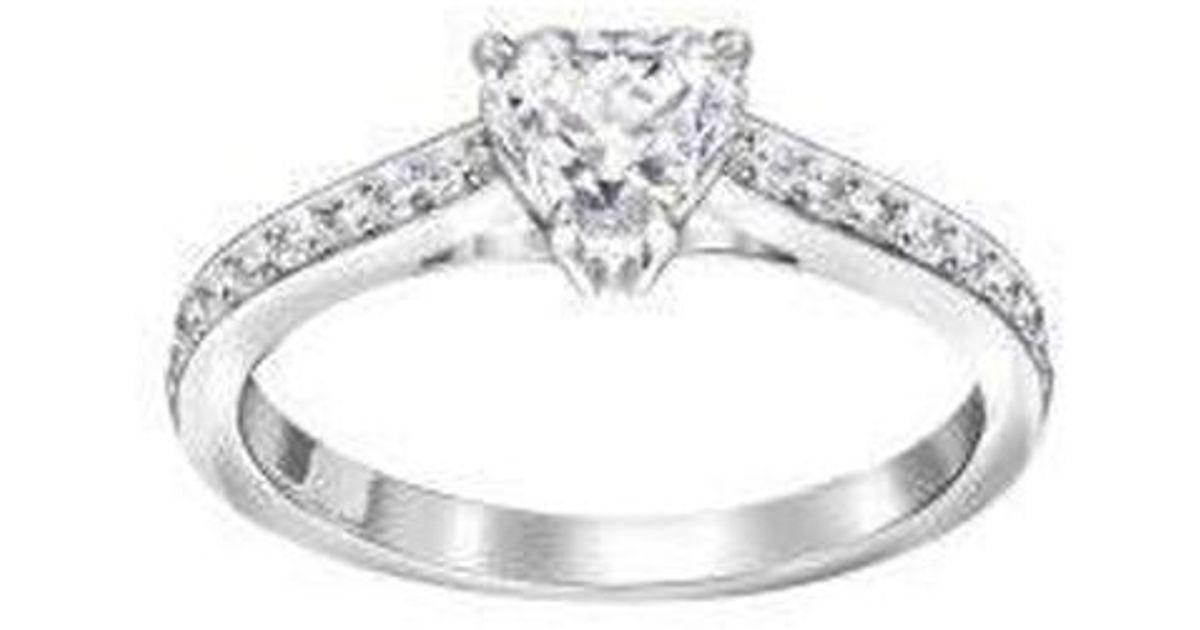 Lyst - Swarovski Attract Heart Ring 5a156fa3a7