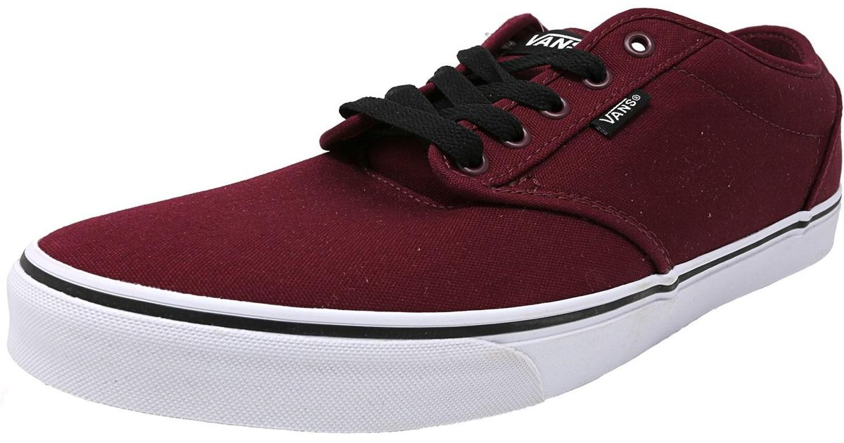 8ec503e1de2c87 Lyst - Vans Atwood Low Men Us 13 Burgundy Skate Shoe in Red for Men