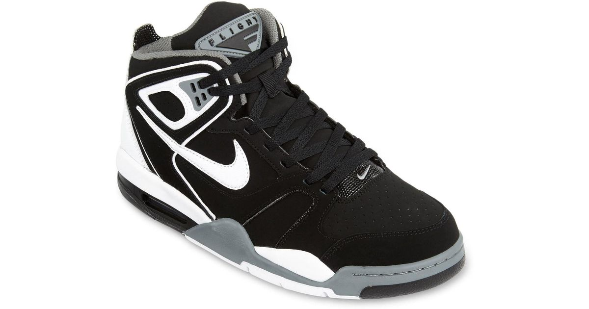5e307889 Nike Air Flight Falcon Basketball Shoe Black/cool Grey/white in Black for  Men - Lyst