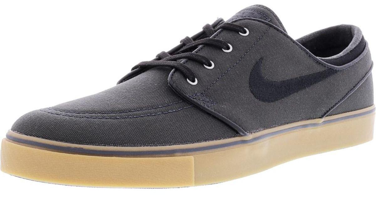 0af0f0dd4c052d Lyst - Nike Zoom Stefan Janoski Canvas Anthracite   Black Gum Medium Brown  Silver Ankle-high Skateboarding Shoe - 11m in Black for Men