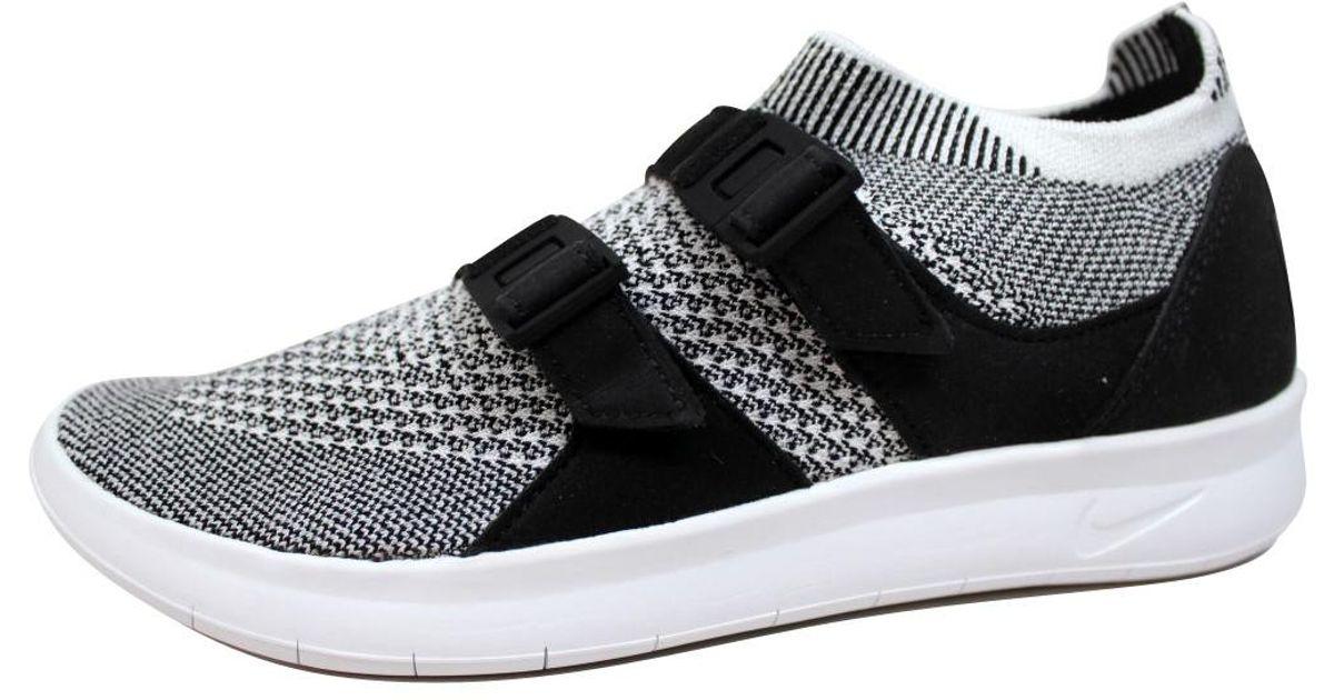 eb5f34da5396c Lyst - Nike Air Sockracer Flyknit Black white-white 896447-002 in White for  Men