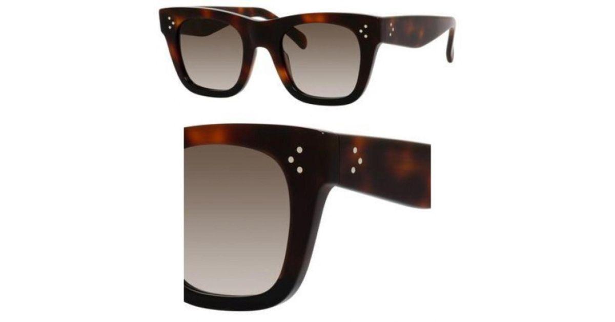 c17220efbdc4 Lyst - Céline Sunglasses 41089  s 0aea Havana   Z3 Brown Degrade Lens in  Brown
