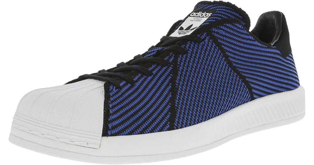 4b46b902c Lyst - adidas Superstar Bounce Pk Core Black   Blue Footwear White  Ankle-high Fashion Sneaker - 6m in Blue for Men