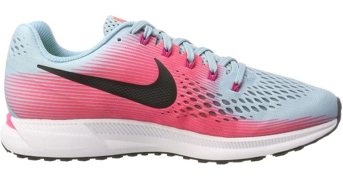 03001b01907 Lyst - Nike Air Zoom Pegasus 34 Mica Blue white Racer Pink Running Shoe 9.5  Women Us in Pink